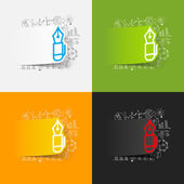 Drawing business formulas: pen — ストックベクタ