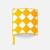 Realistic design element: linesman flag — Stock Vector