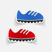 Realistic design element: sneakers — Stock Vector