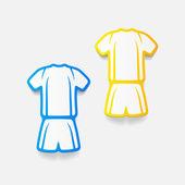 Elemento de design realista: roupas de futebol — Vetorial Stock