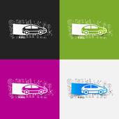 Drawing business formulas: car — Stock Vector