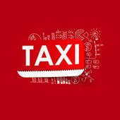 Drawing business formulas: taxi — Stockvector