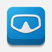 square button: mask — Cтоковый вектор