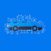 Business formules opstellen: auto — Stockvector