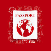 Drawing business formulas: passport — Stock Vector