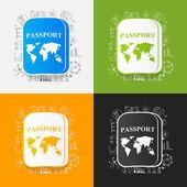 Drawing business formulas: passport — Vettoriale Stock