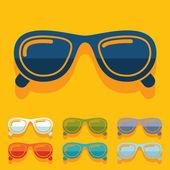 Flat design: sunglasses — Stock vektor