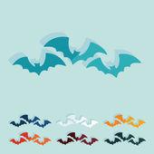 平面设计: 蝙蝠 — 图库矢量图片