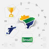Voetbal, voetbal infographic — Stockvector