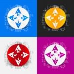 Compass stickers set — Stock Vector #48551041