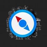 Compass sticker — Stock Vector #48554437
