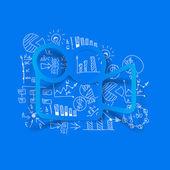 бизнес формулы с видео — Cтоковый вектор