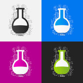 Chemistry tubes  set — Stock Vector