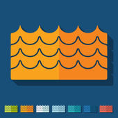 Flat design: wave — Stock Vector