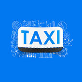 Taxi sign sticker — Stockvector