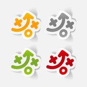 Sport tactics stickers — Stock Vector