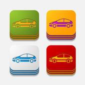 Car button set — Stock Vector