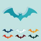 Plano de projeto: morcego — Vetor de Stock