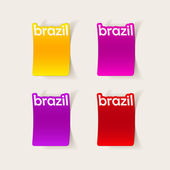 Brazil stickers — Stockvektor
