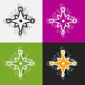 Compass sticker — Stockvektor