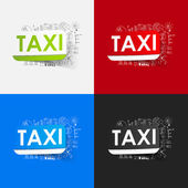Taxi teken stickers — Stockvector