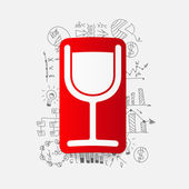 Cocktail sticker — Stockvector