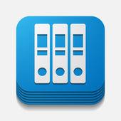 Folder button — Stock Vector