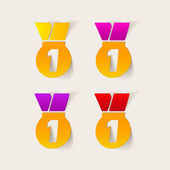 Medal stickers — Stockvektor