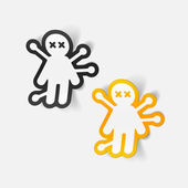 Voodoo Doll stickers — Vector de stock