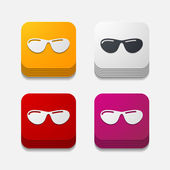 Sunglasses button set — Stock Vector