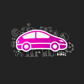 Autoaufkleber — Stockvektor