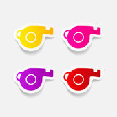 Whistle stickers — Stock Vector