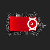 бизнес формулы с часами — Cтоковый вектор