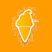 Ice cream sticker — Stock Vector