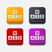 Keypad button set — Stock Vector