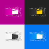 Folder stickers set — Stock Vector