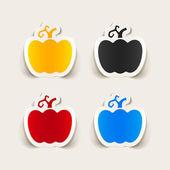 Pumpkin stickers — Stock Vector