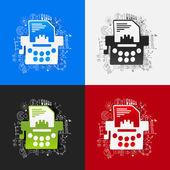 Schrijfmachine stickers — Stockvector