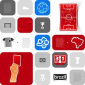 Futbol infographic — Stok Vektör