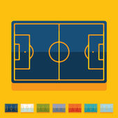 Football playing field  stickers — ストックベクタ