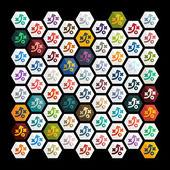 Tactics icons — Stock Vector