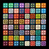 Lifebuoy stickers set — Stock Vector