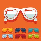 Sunglasses stickers — Stock Vector