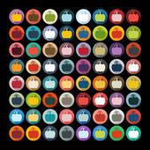 Pumpkin stickers set — Stock Vector