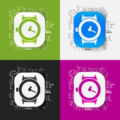 Watch and business formulas — Stock Vector