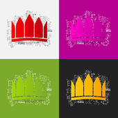 Crown and business formulas — Stock Vector