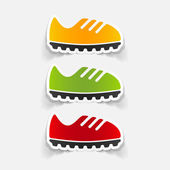 Sneakers design element — Vector de stock