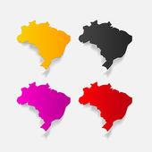 Brazil design element — Stock Vector