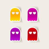 Prvek návrhu ghost — Stock vektor