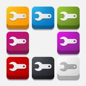 Wrench button set — Vecteur